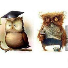 Antes y después de dar clases...