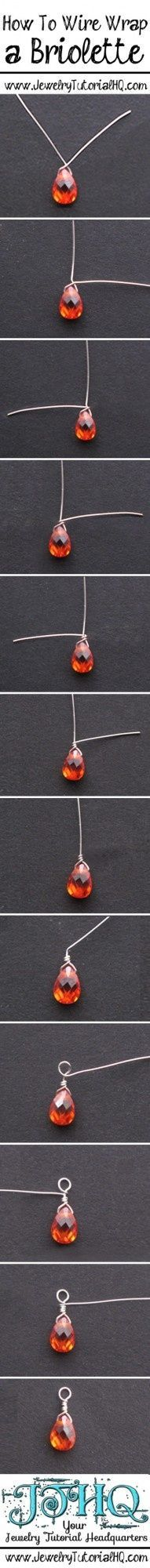 how to wire wrap a briolette step by step tutorial {+ video}