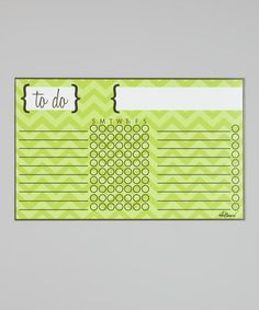Green Zigzag Magnetic Chore Chart by a'la Board #zulily #zulilyfinds
