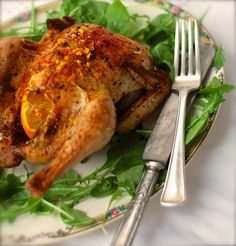 an easy, elegant recipe for Roasted Cornish Game Hens