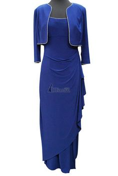 Mother of the Bride Dresses - 135173 Long Chiffon Jacket Wrap Blue