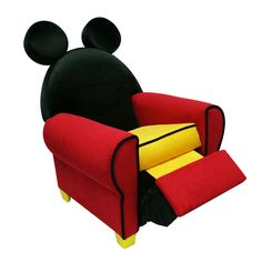 mickey mouse furniture | Disney Mickey Mouse Toddler Chair: Disney Mickey Mouse Upholstered ...