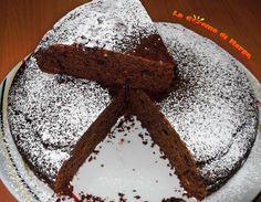 Torta al cioccolato senza uova e burro,ricetta light