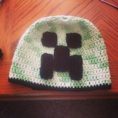 Minecraft Creeper Crochet Beanie