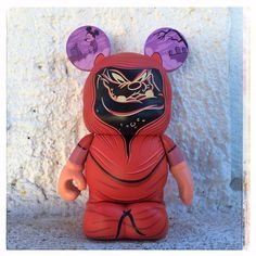From the upcoming Mickey's Christmas Carol Vinylmation set, Pete as the Ghost of Christmas Future. I swear, these just get better . . .