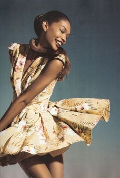 """CHANEL IMAN """"HAPPY FACE"""" FEBUARY 2010 VOGUE SPAIN"""