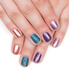 Iridescent Chrome, Shimmer, Stardust, Metallic