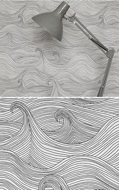 seascape wallpaper, winter by abigail edwards.