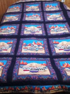 "Quilt Southwestern Native Indian Pots King sz 91"" x 91"" Santa Fe Flair Handmade"