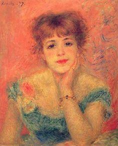 Portrait of Jeanne Samary, 1877 by Renoir