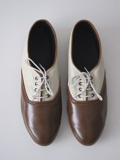 Pony oxfords flats in Earth tonestwo tones by goldenponies on Etsy, $39.00