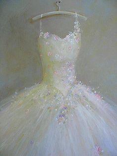 """""la danse de printemps"" (The Dance of Spring)"", ballet Tutu painting original ooak canvas still life vintage ballerina art FREE usa shipping. By WitsEnd, via Etsy. SOLD"