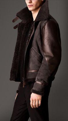 Burberry London Shearling Aviator Jacket