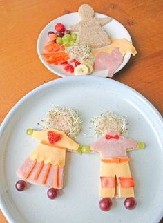 Healthy, crafty snack to go with The Paper Dolls party of Tales Come Alive children's parties, Inc. doll parti, kid snack, fun food, sandwich, paper dolls, crafti snack, lunch, craft snack, food creation