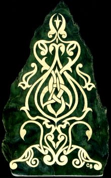 Aon Celtic Art - pained rock inspiration