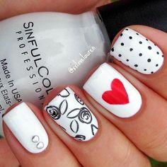 White Nails art Designs (25)