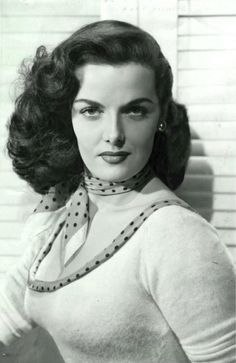 Jane Russell, first name Ernestine, was an American film actress and one of Hollywood's leading sex symbols in the 1940s and 1950s. Born: June 21, 1921, Bemidji, MN Died: February 28, 2011 (age 89), at home from a respiratory-related in Santa Maria, CA Married 3 times. 1 divorced 2 widowed. Spouse: John Calvin Peoples (1974–1999), Roger Barrett (1968–1968 death), Bob Waterfield (1943–1968 death) Mother of 3