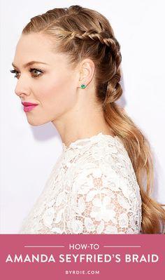 How to recreate Amanda Seyfreid's elegant braid. // #Hair