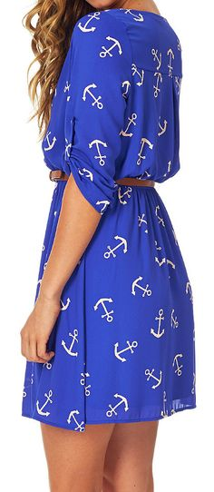 For our #anchor fans ! The Anchor dress in electric blue