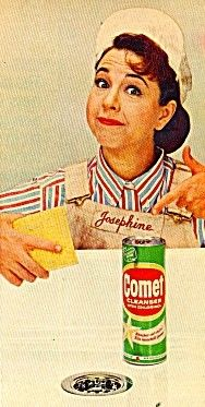 Josephine the Plumber for Comet  1960's to early 1970's.