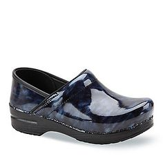Dansko Women's Professional Marbled Patent Clogs. Smarts: Slip-resistant, padded insole. FootSmart.com