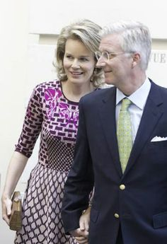 Queen Mathilde of Belgium and King Philippe of Belgium during the inauguration of the King Albert II part of the permanent exhibition in the BELvue museum in Brussels, 07.06.2014.