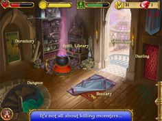 SpellCraft School of Magic, role-playing game for iPad and iPhone/iPod touch, by Appy Entertainment