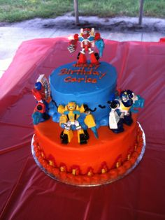 Rescue Bots Birthday Party- Rescue Bots Birthday Cake