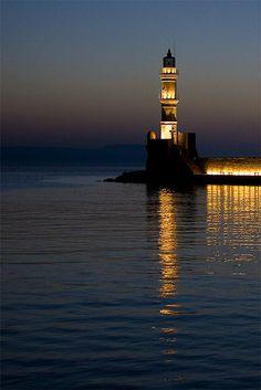 TRAVEL'IN GREECE I Chania lighthouse, #Crete, #Greece, #travelingreece