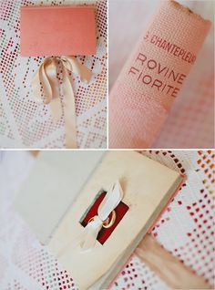 love the reuse of this old book for the rings!