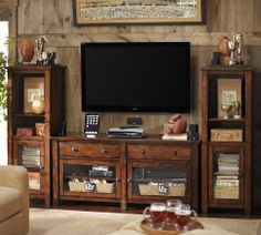 Benchwright Media Suite with Towers | Pottery Barn