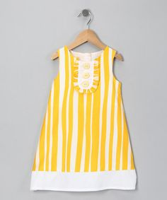 Take a look at this Yellow Stripe Dress - Toddler & Girls  by Donita on #zulily today!