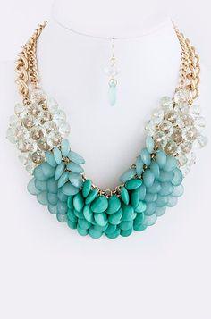 Turquoise Teardrop Bib Necklace  Anthropologie by GraysRoom, $35.00