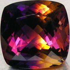 Ametrine (cushion-cut, 39.76 cts.) from Bolivia