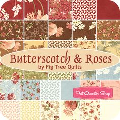 Butterscotch  Roses by Fig Tree Quilts