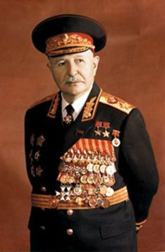 Allied leaders - Ivan Khristoforovich Bagramyan (2 December 1897 – 21 September 1982), was a Soviet military commander and Marshal of the Soviet Union. During World War II, Bagramyan was the first non-Slavic military officer to become a commander of a Front. He was among several Armenians in the Soviet Army who held the highest proportion of high-ranking officers in the Soviet military during the war.