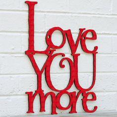 Love You More by spunkyfluff on Etsy
