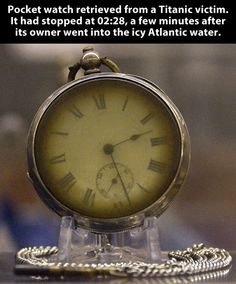 Pocket watch from a Titanic victim.