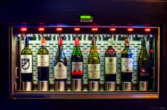 self serve wine area- just insert credit card.......Clo Wine