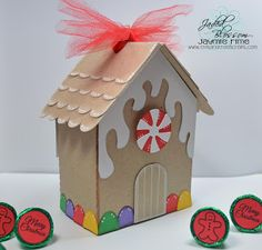 This and That Scraps: Gingerbread House Treat Box