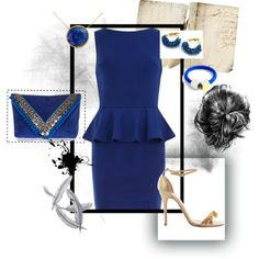 """Monday Moodboard: Royal Blue"" by ahkriti on Polyvore"