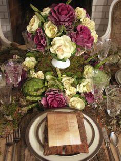 rustic rose tablescape