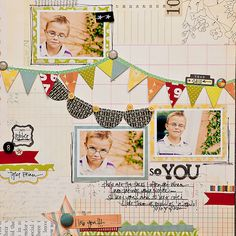 Love this layout  and colors -- great idea for a boy page.