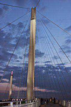 The Bob Kerrey Pedestrian Bridge - between Council Bluffs, Iowa and Omaha, Nebraska