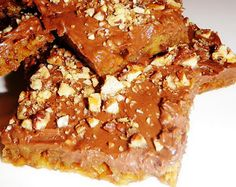 Lazy Toffee Bars - made with saltines! Who knew