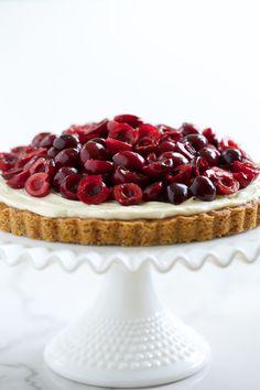 Cherry Cheesecake Cookie Tart