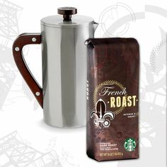 The Modernist. A Father's Day gift set for dads who like the finer things: a double-walled stainless steel coffee press and dark & smoky French Roast coffee. $50.00 at StarbucksStore.com