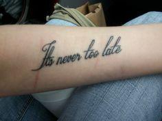 My new Three Days Grace tattoo.
