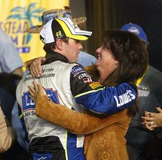 Jimmie Johnson... Gets a Congrats from his MOM. by jadeanne337 @ Flickr - Photo Sharing!                     (Taken on July 12, 2007)