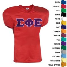 Fraternity Touchdown Football Jersey $28.95 #Greek #Fraternity #Clothing #Clothes #Apparel #GreekWeek #Custom #Football #Jersey